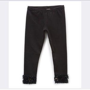 Other - 🦀Black Ruffle Hem Leggings